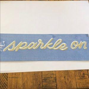 3/$10 NWT appliqué patch sparkle on